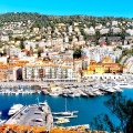 Pemandangan lautan di Nice Prancis
