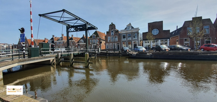 Makkum village Friesland, Holland