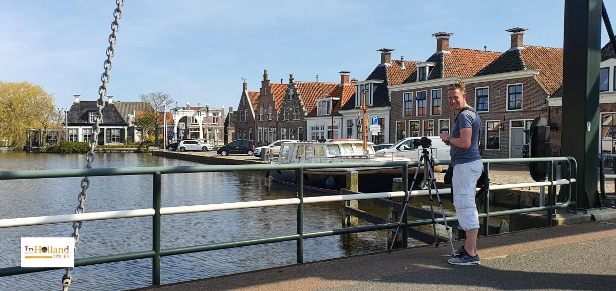 Makkum village Friesland, The Netherlands