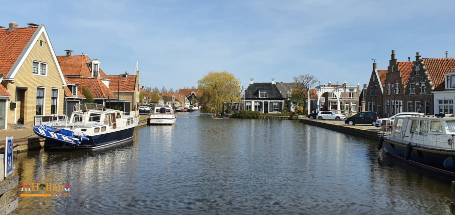 Makkum village Friesland, The Netherlands