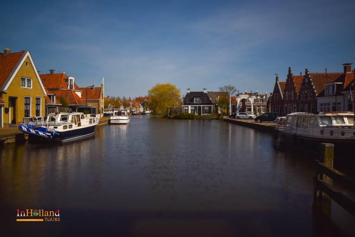 Makkum village Friesland, Belanda