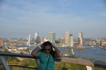 Euromast tower Rotterdam city Holland