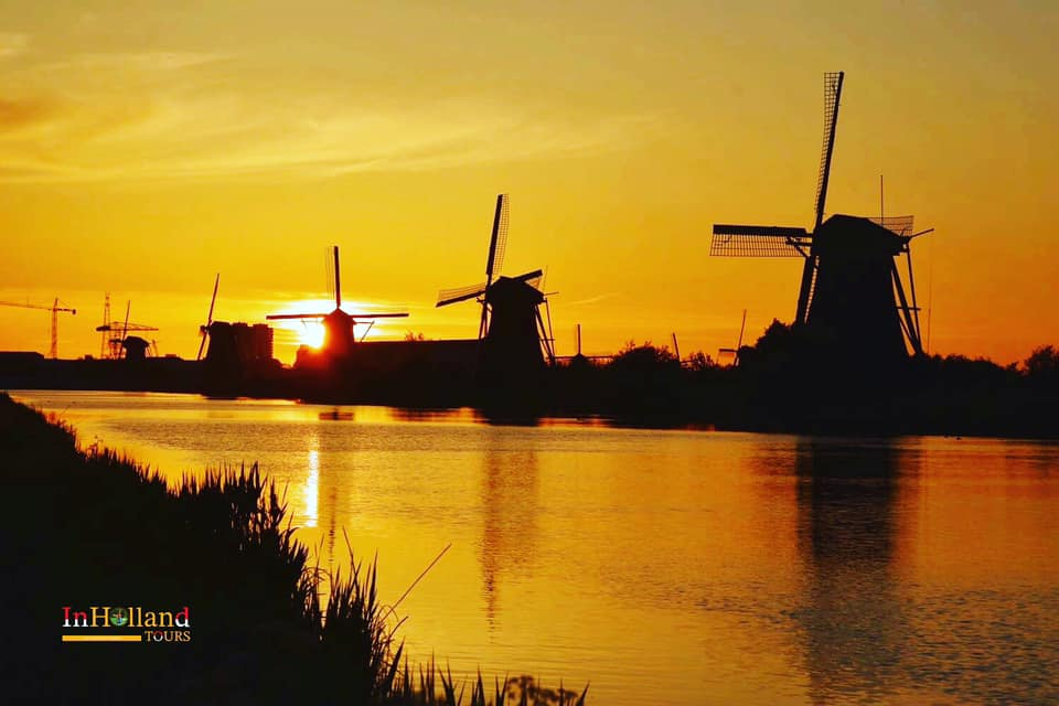 Kinderdijk di propinsi South-Holland, Belanda