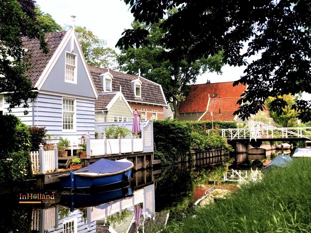Houses in Broek in Waterland, Holland
