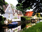 Houses in Broek in Waterland, Holland